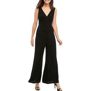 Sleeveless V Neck Sparkle Jumpsuit Size 6
